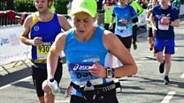 What made mum run marathon on broken leg?