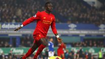 Watch Liverpool's Sadio Mane in action against Everton