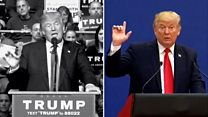 China: President Trump v candidate Trump