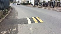 Tiny double yellow lines 'baffle' locals