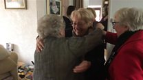 Emotional reunion for wartime evacuee
