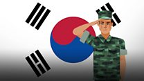 """想要为韩国打仗的朝鲜""""脱北者"""""""