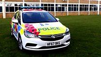 Dorset Police unveil poppy car