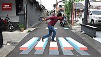 Kampung 3D, mencegah kecelakaan dengan ilusi