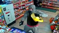 Pair rob newsagent with gun and machete