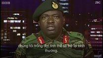 Quân đội Zimbabwe phát biểu trên TV
