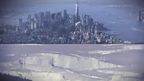 Which cities could suffer as the ice melts
