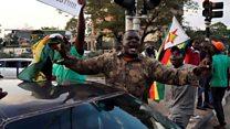 Dancing breaks out as Mugabe resigns