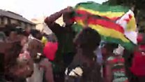 Празднования в Зимбабве после отставки Мугабе