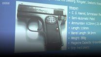Gun and envelope clues to murder
