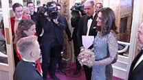 William and Kate arrive for Royal Variety