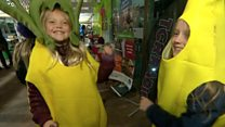 Remixing waste food into a food and dance party