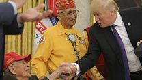 トランプ氏、米先住民称える行事で「ポカホンタス」をネタに