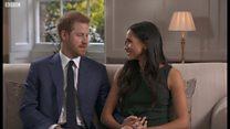 婚約発表したハリー英王子とマークルさん BBC単独インタビュー