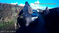 Hunt saboteurs 'driven into by car' in Somerset