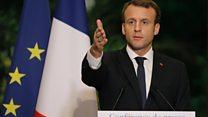 """Macron: """"c'est une traite faite par des Africains contre d'autres Africains"""""""