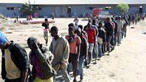'Yan Nigeria sun yi zanga-zanga kan 'cinikin bayi' a Libya