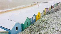 Snow falls along eastern coastline