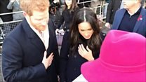 Harry and Meghan presented with cards