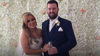 'Fairytale' wedding for explosion couple