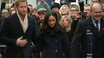 英国哈里王子与未婚妻首次出席公开活动
