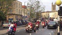 Motorcycling-Santas raise charity cash