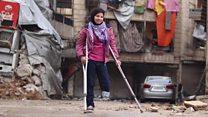 لاعبة جمباز من حلب تتحدى الإصابة