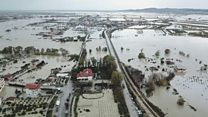 Albania homes destroyed by floods