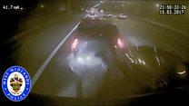 Footage shows 'asleep at the wheel' crash