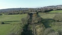 Portishead railway from the air
