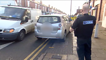 Police catch drivers parking illegally