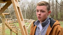 Bored teen builds his own rollercoaster