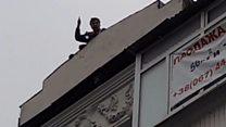 Саакашвілі з даху звинувачував Порошенка і Луценка