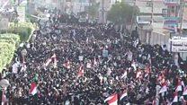 تظاهرة حاشدة للحوثيين في صنعاء بعد يوم من مقتل علي عبد الله صالح