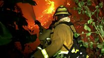LA fires force thousands to evacuate