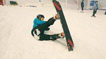 Prosthetic feet designed for snowboarding