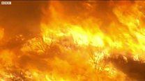 Các đám cháy rừng lan rộng ở California