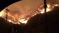 حرائق جنوبي كاليفورنيا  تدمر البيوت وتلتهم الغابات