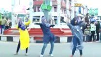 حجاب میں رقص پر مذمت