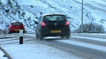Snow falls across parts of Wales