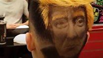 Что выбрить на затылке - Трампа или Мону Лизу?