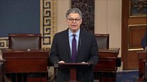 Al Franken resigns over 'groping' claims