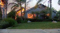 Wildfires devastate southern California