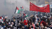 Tear gas used at Lebanon US embassy protest