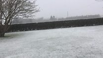 Snow falls in parts of county