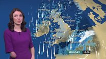 Wintry showers forecast for Monday