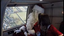 Santa's helicopter hospice visit