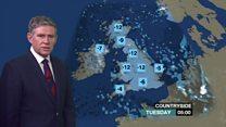 Forecast for ice and sub-zero temperatures