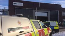 Scene of Birmingham factory 'explosion'