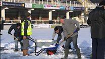 Snow pitch battle for loyal fans